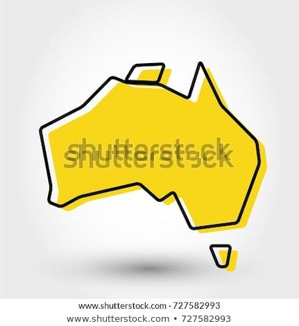 オーストラリア 定型化された 地図 アイコン ベクトル シンボル ストックフォト © blaskorizov