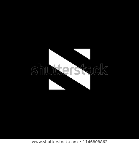 black logo n logo letter n vector icon stock photo © blaskorizov