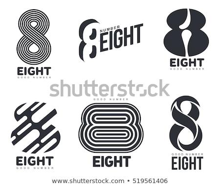 черный числа восемь вектора икона Сток-фото © blaskorizov