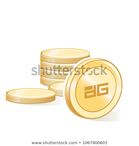 Digix Gold Token - Digital Coin Vector Icon Stock photo © tashatuvango
