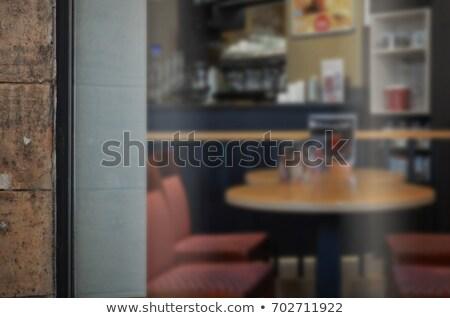 Coffee shop with glass door Stock photo © colematt