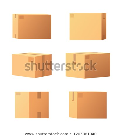 Carton Packages with Adhesive Type Set Vector Stock photo © robuart