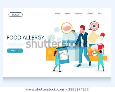 Comida alergia bandeira homem produtos Foto stock © RAStudio