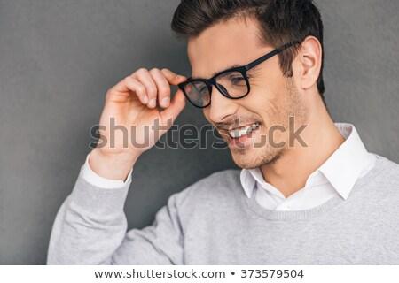 üzletember · nyakkendő · férfi · póló · stúdió · szín - stock fotó © feedough