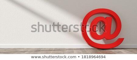 Mailbox kamer exemplaar ruimte Blauw grijs Stockfoto © make