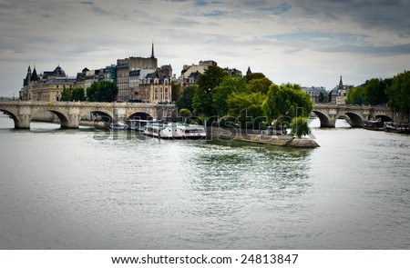 Ilha la Paris França rio céu Foto stock © neirfy