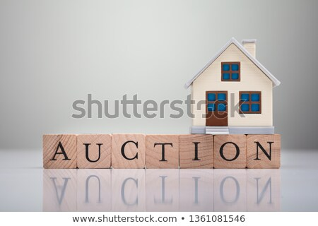 Stock foto: Haus · Modell · Auktion · Text