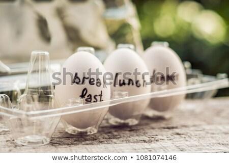 Ovo dieta café da manhã almoço jantar Páscoa Foto stock © galitskaya