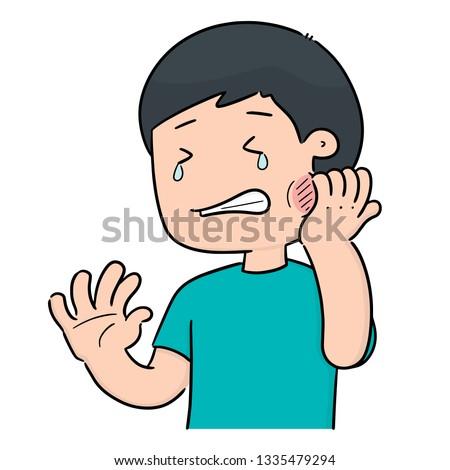 Сток-фото: vector of man got toothache
