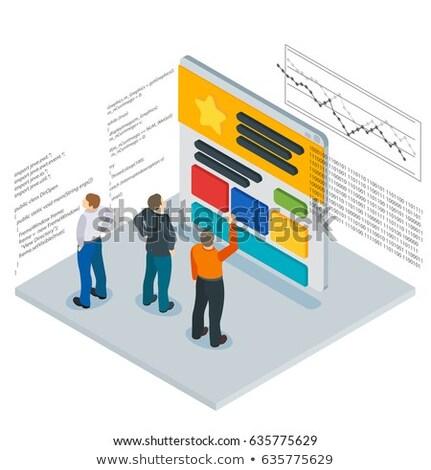Seo otimização linha projeto estilo isométrica Foto stock © Decorwithme