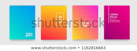 Grünen Welle modernen Design abstrakten Plakat Stock foto © SArts