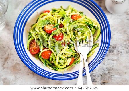 Raw green uncooked zucchini pasta Stock photo © furmanphoto