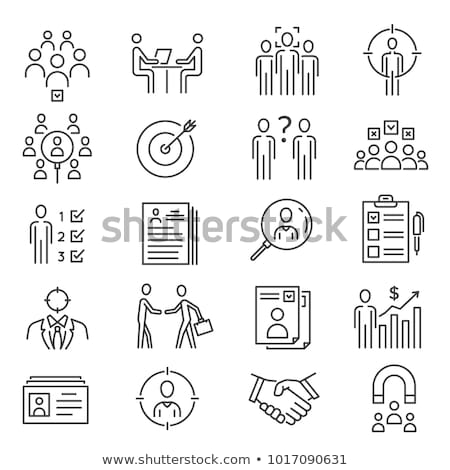 Ligne art icônes isolé personnes vecteur Photo stock © robuart