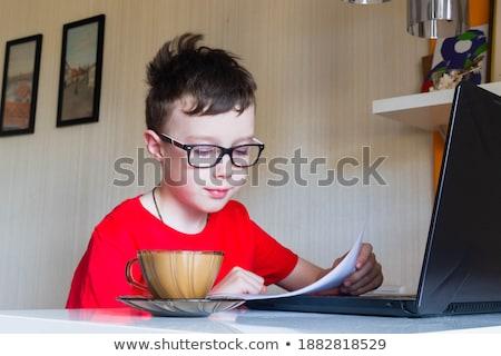 üzlet iratok iroda asztal laptop digitális Stock fotó © Freedomz