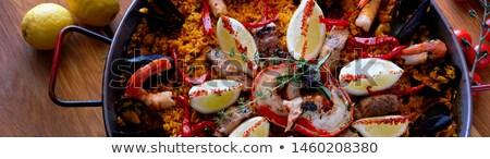 морепродуктов · блюдо · рыбы · гриль · сладкий · картофель - Сток-фото © amok