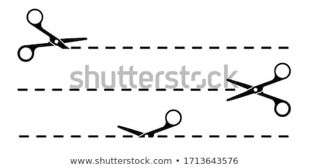 White Scissors illustration set Stock photo © Blue_daemon