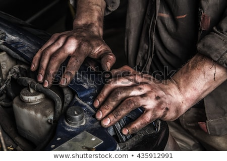 dirty hand worker stock photo © lopolo