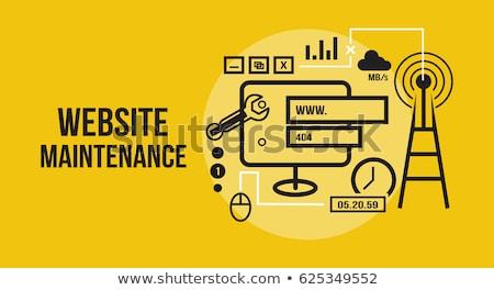 Stockfoto: Website · onderhoud · technische · ondersteuning · programmering · codering · diensten