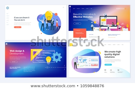 Marketing business landing pagina vector sjabloon Stockfoto © Decorwithme
