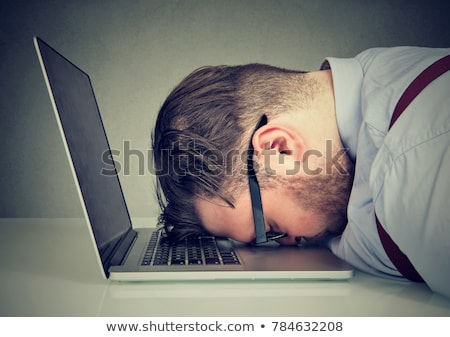 Frustrated man looking miserable and despaired. Stock photo © lichtmeister