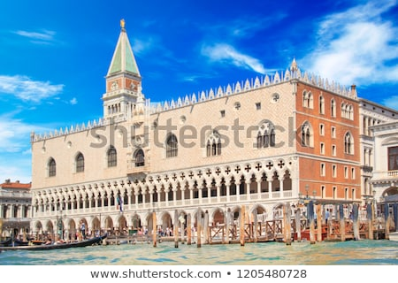 columns at doges palace in venice stock photo © vapi