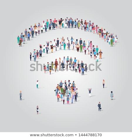 wektora · ilustracja · społeczeństwo · tłum · mężczyzn · kobiet - zdjęcia stock © cienpies