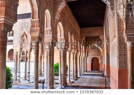 Tavan alhambra saray İspanya süslemeleri sanat Stok fotoğraf © borisb17