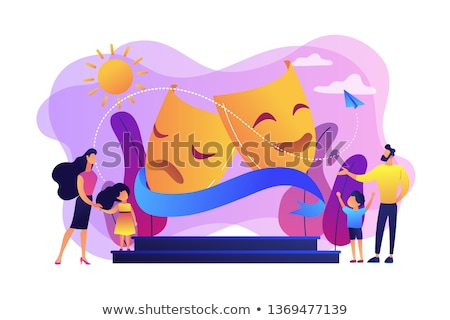 子供 · ステージ · 実例 · 衣装 · カーテン · 背景 - ストックフォト © rastudio