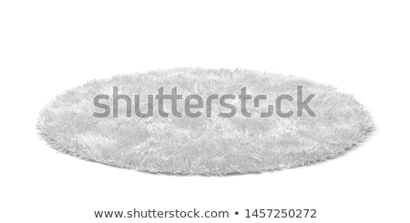 пушистый ковер 3d иллюстрации изолированный белый аннотация Сток-фото © montego