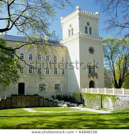 Castelo República Checa parque estilo céu edifício Foto stock © borisb17
