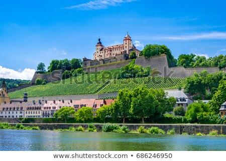 крепость Германия символ небе город замок Сток-фото © borisb17
