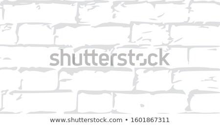 Antigo parede de tijolos textura do grunge estoque isolado branco Foto stock © kyryloff