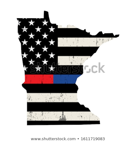 State of Minnesota Police and Firefighter Support Flag Illustrat Stock photo © enterlinedesign
