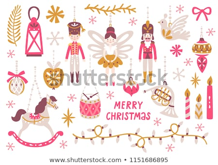 Cute Christmas Princess Stock photo © Dazdraperma