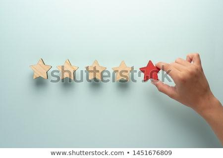 Dört beş Yıldız iyi kavramlar sarı Stok fotoğraf © make