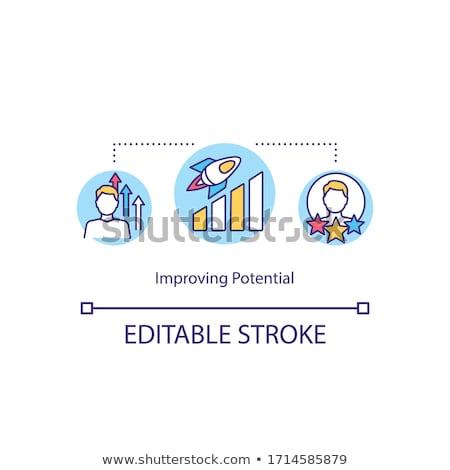 Persönlichen professionelle Fähigkeiten Vektor Metaphern Stock foto © RAStudio