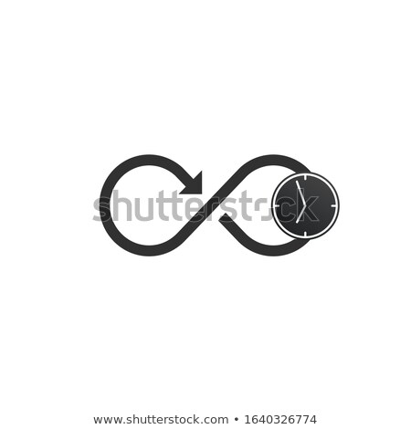Time Infinity Logo Icon Design with arrow. Stock Vector illustration isolated on white background. Stock photo © kyryloff
