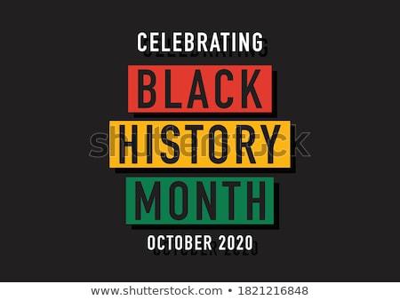 Fekete történelem hónap ünneplés diverzitás afrikai Stock fotó © Lightsource