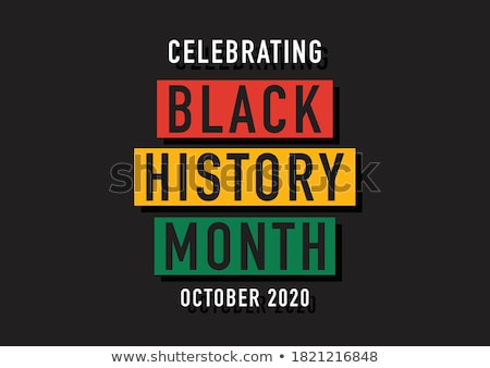Siyah tarih ay kutlama çeşitlilik Afrika Stok fotoğraf © Lightsource