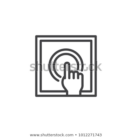 Hand Push Fire Button Icon Outline Illustration Stock photo © pikepicture