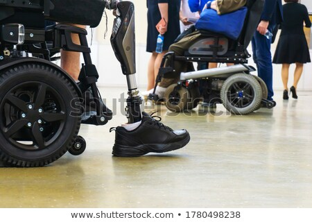 Recovery and Rehabilitation Steps, Handicapped Man Stock photo © robuart