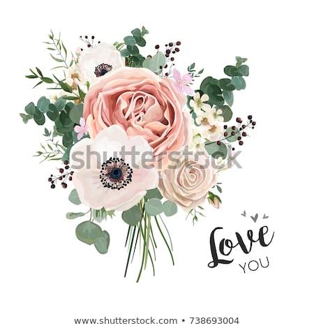 Aquarela rosas buquê rosa casamento Foto stock © shawlinmohd