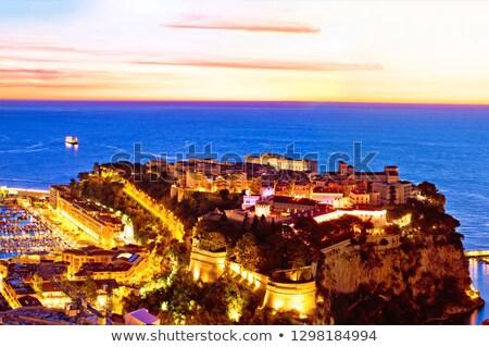 Velho Mônaco cidade rocha colorido panorâmico Foto stock © xbrchx