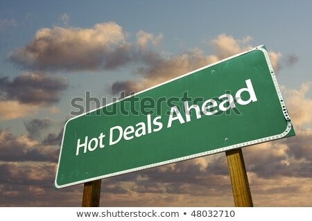 Hot Deals Ahead Road Sign Stock photo © kbuntu
