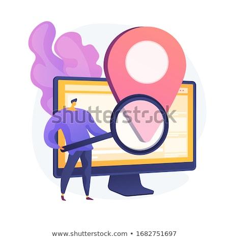 Lokalizacja reklama wektora metafora oprogramowania online Zdjęcia stock © RAStudio