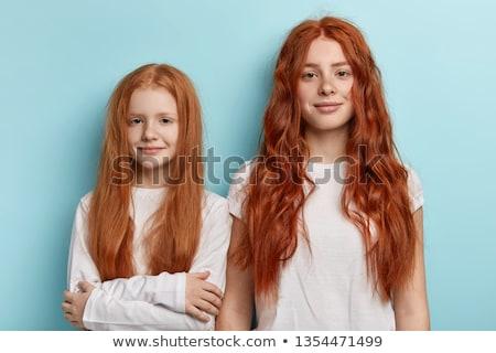 Poziomy portret rodziny dobre stoją blisko Zdjęcia stock © vkstudio