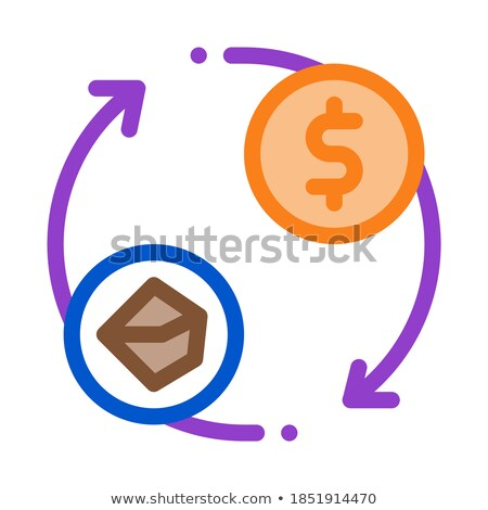 selling coal for money icon vector outline illustration Stock photo © pikepicture