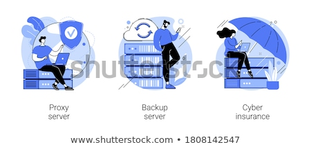 Sicuro internet accesso vettore metafore rete Foto d'archivio © RAStudio