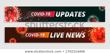 ストックフォト: Coronavirus Live Updates And News Wide Banners Set