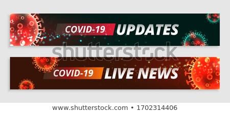 Koronawirus żyć wiadomości szeroki banery zestaw Zdjęcia stock © SArts
